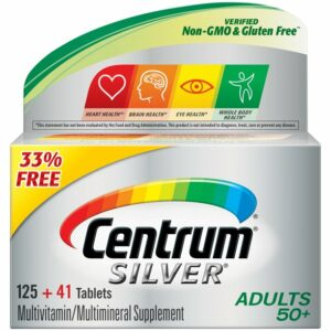 Centrum Silver Adult 166ct BONUS 33% Vitamin D3, Age 50+