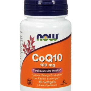 NOW CoQ10 100mg 50 Veg Capsules