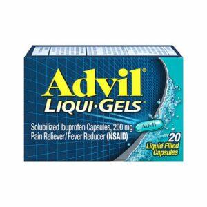 Advil Liquid Gels 20 Capsules