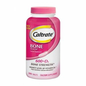 Caltrate Bone Health Calcium Supplement 600+D3 200CT