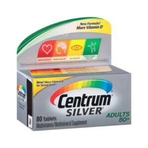 Centrum Silver Complete Multivitamin 50+ 80 Tablets Adults