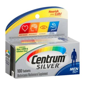 Centrum Silver Men 50+ Multivitamin 100 Tablets