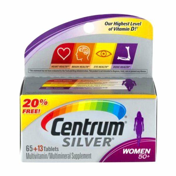 Centrum Silver Ultra Women 50+ Complete Multivitamin 65 + 13 Tablets