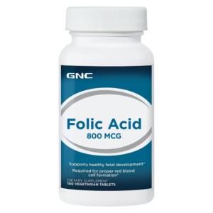 GNC Folic Acid 800mcg 100Ct