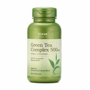 GNC Herbal Plus Green Tea Complex 500mg 100 Capsules