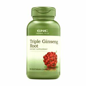 GNC Herbal Plus Triple Ginseng Root 100 Capsules