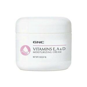 GNC Vitamins E, A & D Moisturizing Cream 2 oz 57gm
