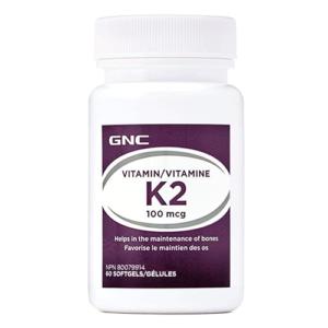 GNC Vitamin K2 100mcg, 60 Ct