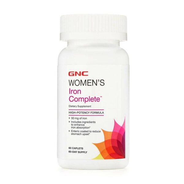 GNC Women's Iron Complete 60 Caplets