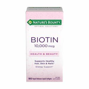 Nature's Bounty Biotin 10,000mcg 90 softgels