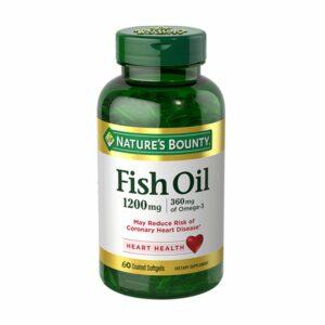 Nature's Bounty Fish Oil 1200mg, Omega 360Mg 120 Softgels