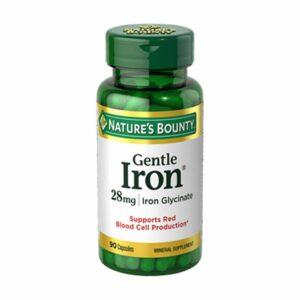 Nature's Bounty Gentle Iron 28mg 90 Capsules