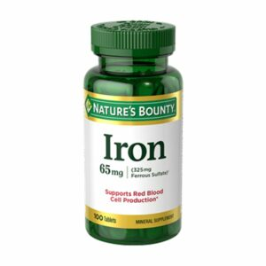 Nature's Bounty Iron 65mg 100 Tablets