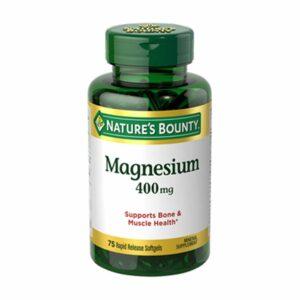 Nature's Bounty Magnesium 400mg 75 Softgels