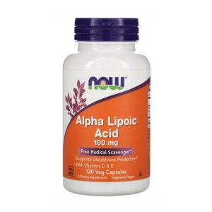 NOW Alpha Lipoic Acid 100 mg, 120 Ct