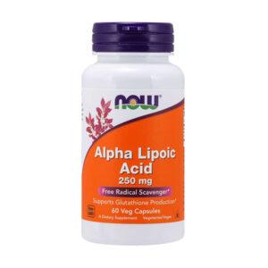 NOW Alpha Lipoic Acid 250 mg, 60 Ct