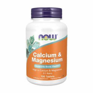 NOW Calcium & Magnesium 100 softgels