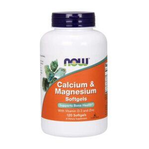 NOW Calcium & Magnesium 120 softgels
