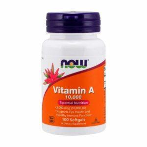 NOW Vitamin A 10000IU 100 Softgels