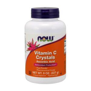 NOW Vitamin C Crystals Pure Powder 8 oz 227gm