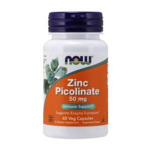 NOW Zinc Picolinate 50mg 60 Capsules