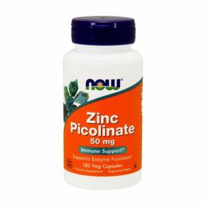NOW Zinc Picolinate 50mg 120 Capsules