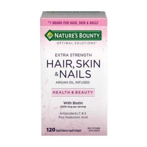 Nature's Bounty Extra Strength Hair, Skin, Nails 120 Softgels