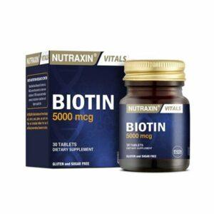 Nutraxin Biotin 5000mcg 30 Tablets
