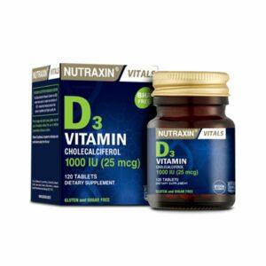 Nutraxin Vitamin D3 1000IU 120 Tablets