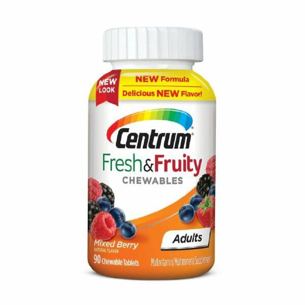 Centrum Fresh & Fruity Chewables 90 Tablets (Adults)