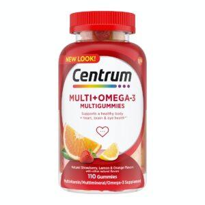 Centrum Multigummies Multi plus Omega 3 multivitamin